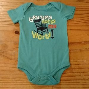Other - Teal onesie. 18M.  EUC. Grandma rocks my world!
